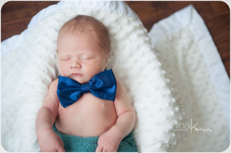 newborn in bowtie